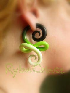 Fake ear gauge / Faux gauge/Gauge earrings / fake by RybaColnce, $19.00