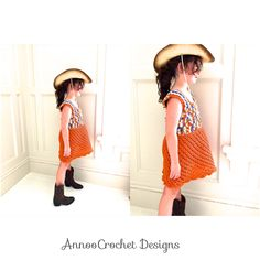 Cowgirl Spring dress free tutorial by AnnooCrochet Designs