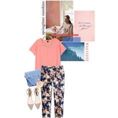 Floral, created by pearlsandstars on Polyvore