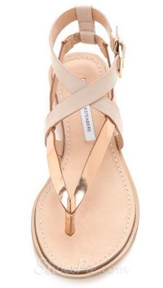 1d7196b5b3cc Simple Coppy Leather Cut-Outs Flat Sandals