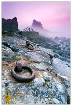 A break in the fog - Holy Island, Northumberland, UK - Lindisfarne Castle, Holy Island Northumberland Castle, Northumberland England, Beautiful World, Beautiful Places, Berwick Upon Tweed, British Isles, Landscape Photos, Holi, Cool Pictures