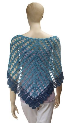 *Note: This listing is for the crochet pattern pdf download, not the actual crocheted item.    Angelika is a beautiful crochet shawl pattern