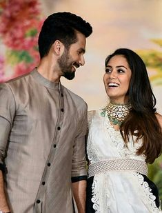 Shahid with his wife mira Bollywood Couples, Bollywood Stars, Bollywood Celebrities, Wedding Couple Photos, Wedding Couples, Cute Couples, Wedding Kurta For Men, Boys Kurta Design, Mens Kurta Designs