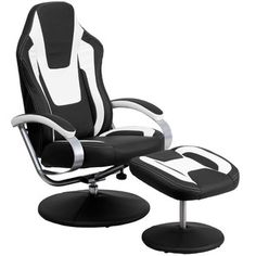 Black and White Swivel Chair w& Ottoman by Cambridge Home is now available at American Furniture Warehouse. Shop our great selection and save! Recliner With Ottoman, Swivel Chair, Recliner Chairs, Recliners, Chair Fabric, Chair Pads, American Home Furniture, Man Cave Furniture, Recliner