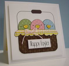 Basket of Chicks by Loll Thompson - Cards and Paper Crafts at Splitcoaststampers