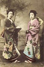 Traditional Japanese kimono...