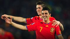 Fernando Torres and David Villa <3 They would be why I cheer for Spain in the World Cup!