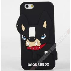 Carcasa 3D silicona divertida diseño perro para tu móvil iPhone 5/5S