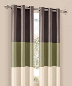 Take a look at the Chocolate & Sage South Park Curtain Panel - Set of Two on #zulily today!