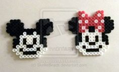 Walt Disney's Mickey and Minnie Mouse perler beads by SkellieBeads on deviantART