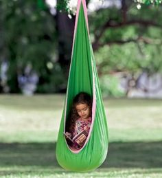 Amazon.com: HugglePod Sturdy Canvas Hanging Chair with Removable Cushion: Home & Kitchen $89