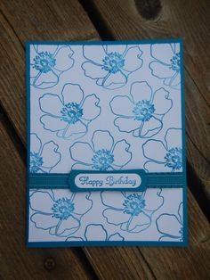 Handmade Stampin Up Birthday Card  Fabulous Florets by StampinandStitchin, $3.00