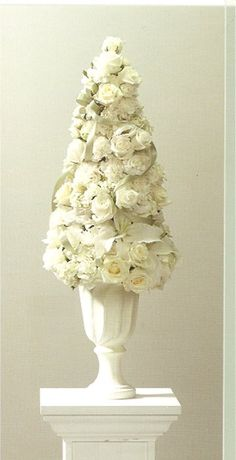 White floral topiary, can also be good for a vintage theme