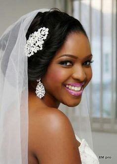 Love the hair pin and matching earrings I would love that on my wedding day but I do love the makeup..good