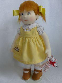 HAZEL. A 14 inch Handmade OOAK Rag/Cloth doll by Brenda Brightmore. | eBay