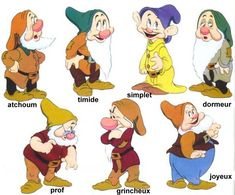 Coloring page to print: Famous people – Walt Disney – Snow white and the seven dwarfs number 46710 – odile F. Disney Character Drawings, Classic Cartoon Characters, Classic Cartoons, Disney Characters, Walt Disney, Disney Magic, Disney Art, 7 Dwarfs, Seven Dwarfs