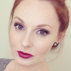 What's on My Face: Soft Wintry Vamp Makeup