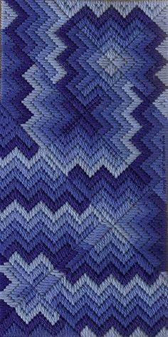 Blue Mad Miters designed by Liz Morrow, 1980