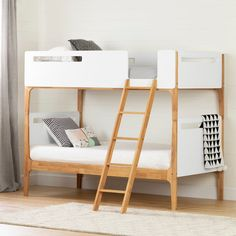 Shop for South Shore Bebble Modern Bunk Beds. Get free delivery at Overstock - Your Online Furniture Outlet Store! Get in rewards with Club O! Safe Bunk Beds, Twin Bunk Beds, Kids Bunk Beds, Bunk Beds For Toddlers, Convertible Bunk Beds, Modern Bunk Beds, Toddler Furniture, Loft Spaces, Kids Bedroom