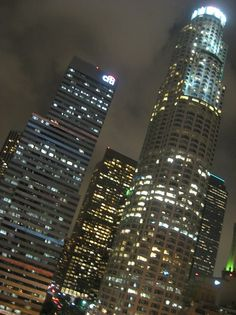 downtown LA at night....lots of lights