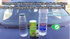laver l'intérieur de la voiture avec du bicarbonate et du vinaigre blanc
