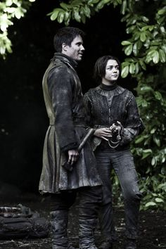 Arya: Jaqen got us out of Harrenhal. So why are you complaining? Gendry: Because you could have ended the war!