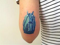 #tattoofriday - Baris Yesilbas e suas tatuagens aquareladas cheias de cor - Totoro;