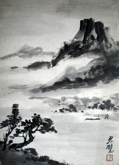 Lavis sur carton de Huang Junbi (1898-1991) - Legs Demiéville © Société Asiatique - next picture