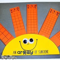 Multiplication Activity:  An Array Activity, Array of Sunshine, students describe arrays and order the products from least to greatest