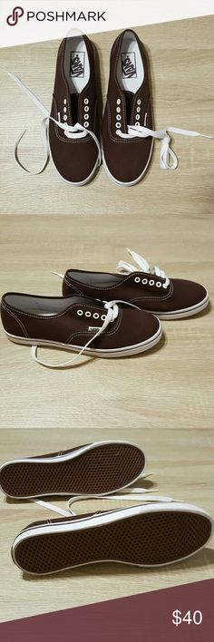 NWOT: Vans shoes 7.5 Vans shoes in brown. Size 7.5. Comes with white laces. Vans Shoes Sneakers
