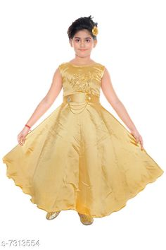 Checkout this latest Frocks & Dresses Product Name: *Girls Maxi/Full Length Party Dress * Fabric: Satin Sleeve Length: Sleeveless Pattern: Self-Design Multipack: Single Sizes: 1-2 Years (Bust Size: 11 in, Length Size: 30 in)  2-3 Years (Bust Size: 11.5 in, Length Size: 32 in)  3-4 Years (Bust Size: 12 in, Length Size: 34 in)  4-5 Years (Bust Size: 12.5 in, Length Size: 36 in)  5-6 Years (Bust Size: 13 in, Length Size: 38 in)  6-7 Years (Bust Size: 14.5 in, Length Size: 41 in)  Country of Origin: India Easy Returns Available In Case Of Any Issue   Catalog Rating: ★4 (242)  Catalog Name: Modern Comfy Girls Frocks & Dresses CatalogID_1171094 C62-SC1141 Code: 824-7313554-9971