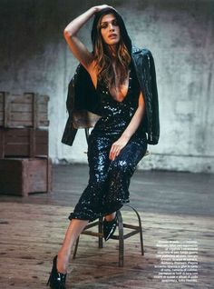 Black Sequin Sparkle Gown / Dress