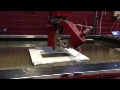 40mm Aluminium Honeycomb 2D 5 axis bevel waterjet cutting