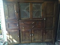 vintage rustic kitchen cabinets Vintage Kitchen Cabinet Meat