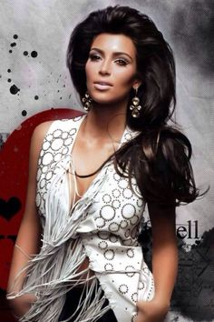 Kim Kardashian - No matter what you think of her, the girl is absolutely gorgeous. Hair and makeup is always flawless!