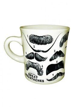 Unemployed Philosophers Guild Great Moustache Mug
