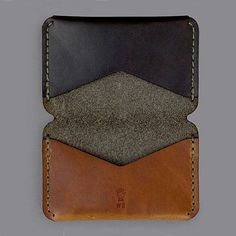 genuine leather name place holder,mixed color card wallet-hiram beron: