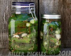 Lacto fermented dill pickles