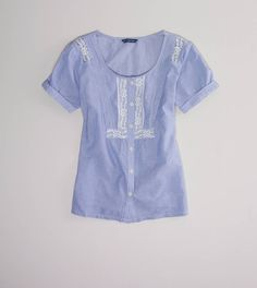 AE Lacy Striped Blouse  Must have for me. If only I were rich!