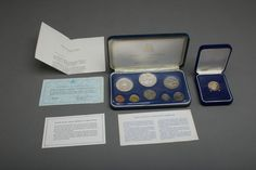 Franklin Mint LOT Barbados 1975 350th Anniversary $100 Gold Coin, 1973 Proof Set