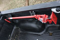 The Rago Fabrication Hi-Lift Jack Mounts for the Toyota Bed Rail System were designed to mount a Hi-Lift Jack using the the Toyota Bed Rail System. The mounts are CAD designed, CNC cut, CNC bent, and