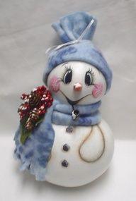 Snowman Gourd Patterns | Hand Painted Snowman Gourds