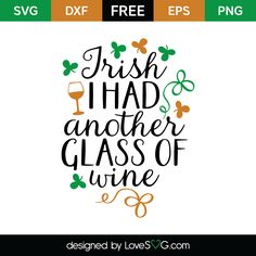 Free SVG cut file - Lucky like a four leaf clover Silhouette Cameo Projects, Silhouette Design, Silhouette Files, Free Svg Cut Files, Svg Files For Cricut, Freebies, Wine Design, Four Leaf Clover, St Pattys