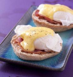 Photo de la recette : Oeufs bénédictines sur muffins anglais