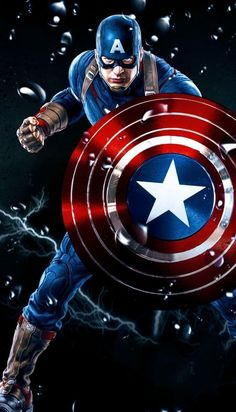 Captain America Logo, Captain America Wallpaper, Marvel Art, Marvel Heroes, Marvel Comics, Marvel Background, Mundo Marvel, Iron Man Wallpaper, Wallpaper Wallpapers