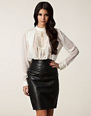 Lokkes Top - Vila - Offwhite - Bluser & skjorter - Tøj - NELLY.COM