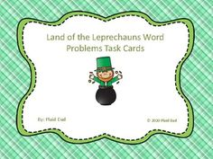 Land of the Leprechauns Math Word Problem Task Cards Math Games For Kids, Fun Math Activities, Math Resources, School Site, School Stuff, Common Core Ela, Math Words, Math Word Problems, Multiplication