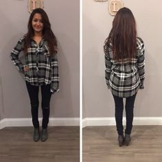 This black and white plaid top is a closet staple! - $39 #winterfashion #winter #ontrend #fashionista #shoplocal #aldm #apricotlaneboutique #apricotlanedesmoines #shopaldm #desmoines #valleywestmall #fashion #apricotlane #newarrival #sweaterweather #shopalb  #ootd #westdesmoines #shopaldm #shopapricotlaneboutiquedesmoines #ontrend #plaid