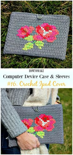 Crochet Ipad Cover Free Crochet Pattern - #Crochet Computer #Device Case Cozy Sleeves Free Patterns