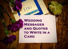 These are more than 50 examples of what to write in a wedding card. Use these to inspire yourself and a newlywed couple. Examples include quotes and personal messages.